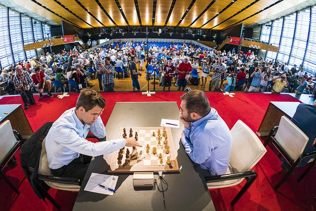Biel2018 - R9 Mame-Carlsen(Photo Lennart Ootes : Biel Chess Festival)