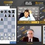 Inarrestabile Carlsen al Chessable Masters