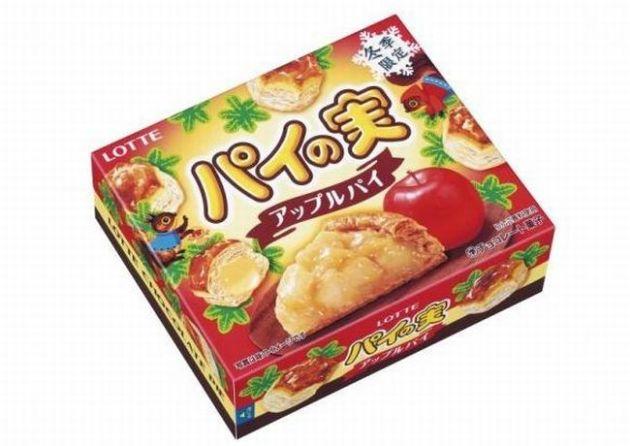 ロッテ「パイの実 アップルパイ」カロリーは?温め目安(レンジ&オーブントースター)は?味の感想・期間はいつまで?