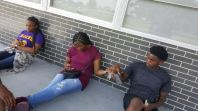 Kayla, Ijohli, and Malik cooling out