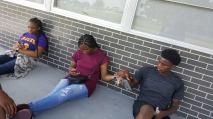 Kayla, Ijohli, and Malik cooling out