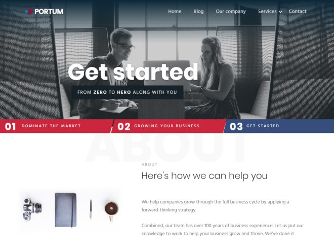 Best free wordpress theme for startup