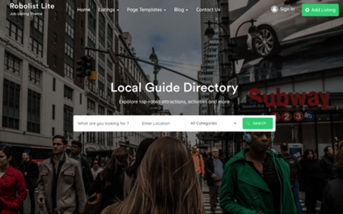 free directory wp theme