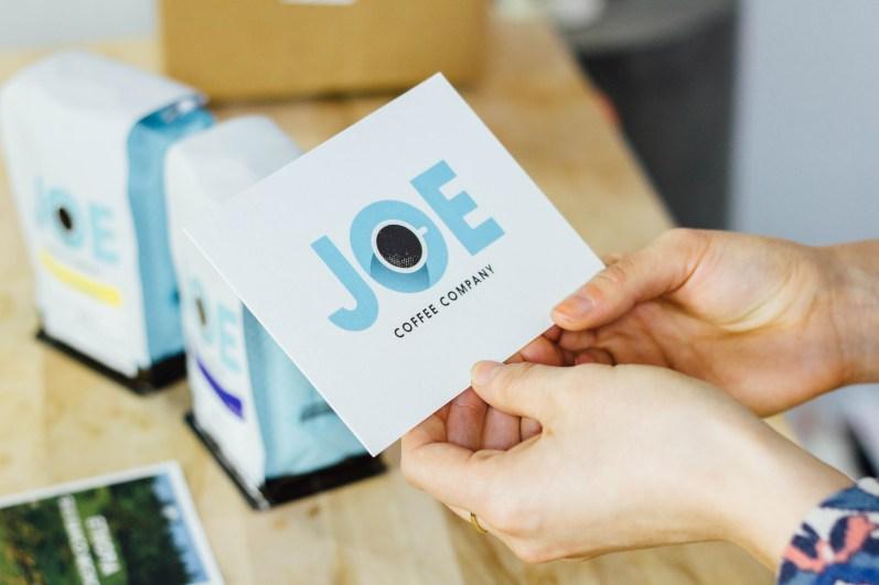 Simplistic Joe Coffee Packaging Card Design