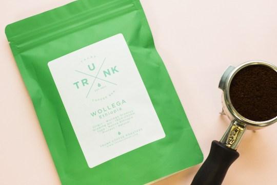 Trunk Coffee's packaging design.