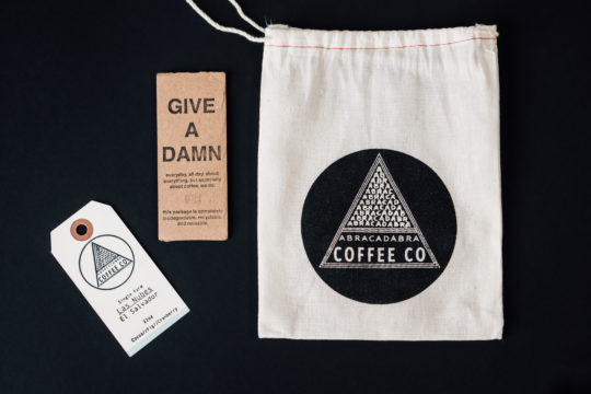 Abracadabra Bag Tag on Black