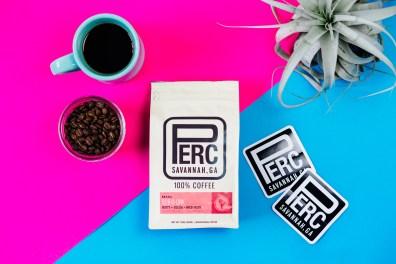 Perc Aerial Coffee & Stickers