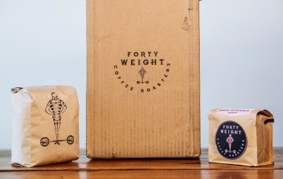 Forty Weight box and bags