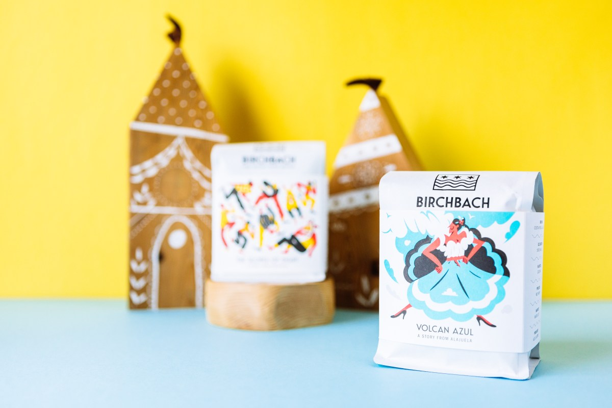 Two of the Birchbach coffees