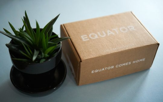 packaging that says: equator comes home