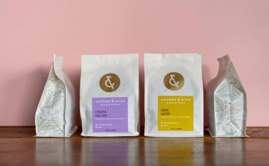 Dapper & Wise coffee packaging details