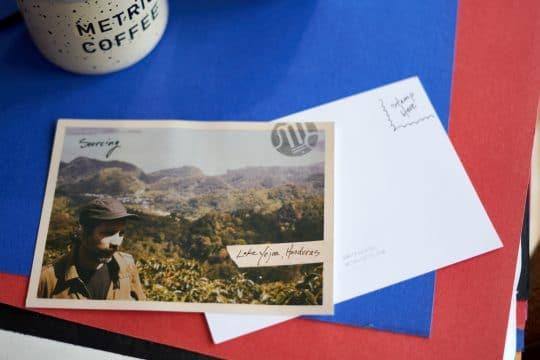 Metric postcard featuring trip to Honduras