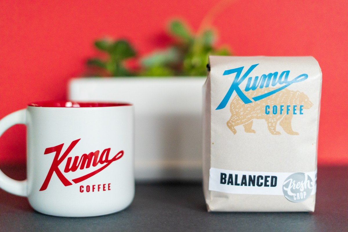 kuma mug and coffee bag