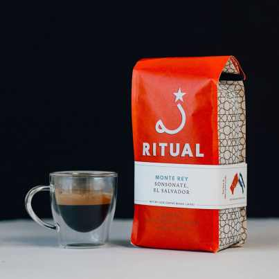 Espresso with Ritual Coffee Monte Rey coffee bag