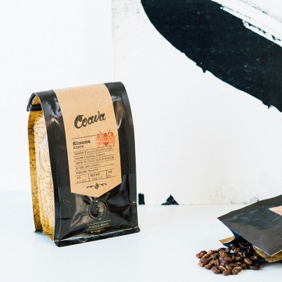 Coava coffee bag with Zeppelin album