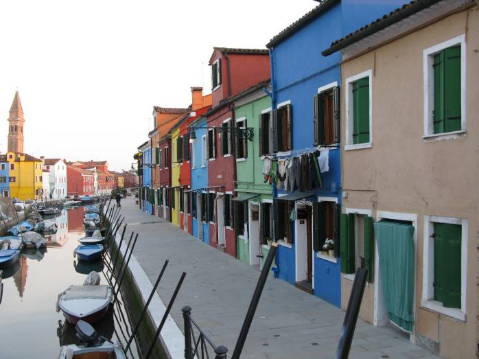 By a rio in Burano, Venice