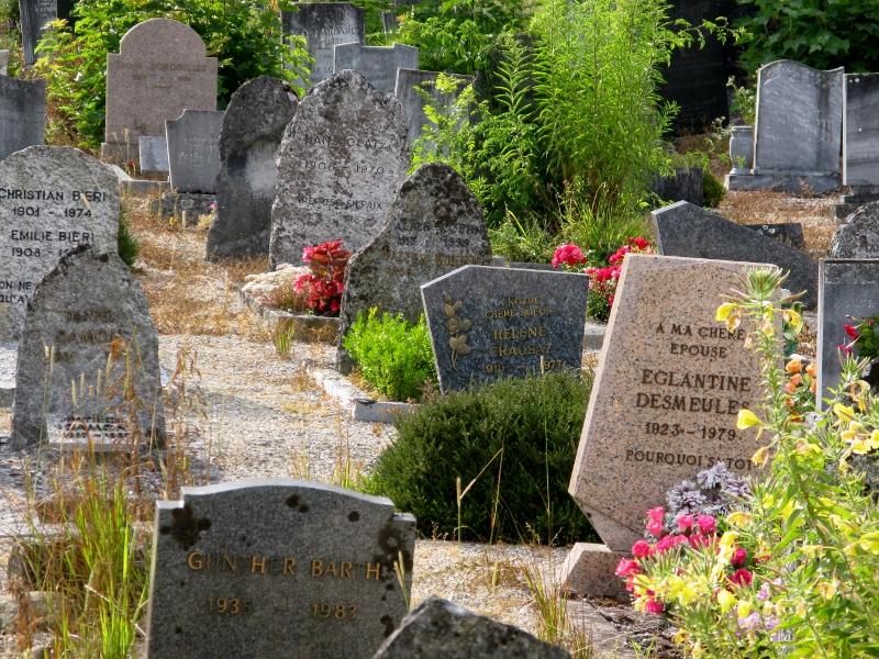 New cemetery Céligny Switzerland