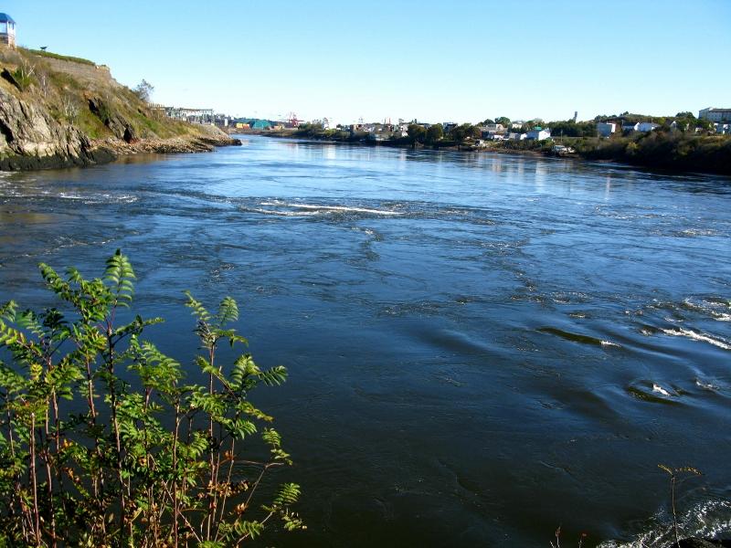 Reversing falls in St John