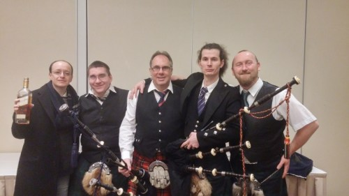 L/R: Gabor, Dani, John, Gergő, Imre. Photo: Brendan Dunne