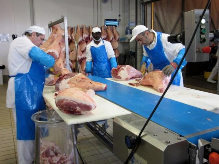 Parma ham factory
