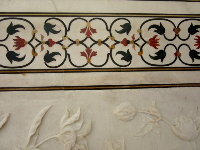 Taj Mahal marble walls