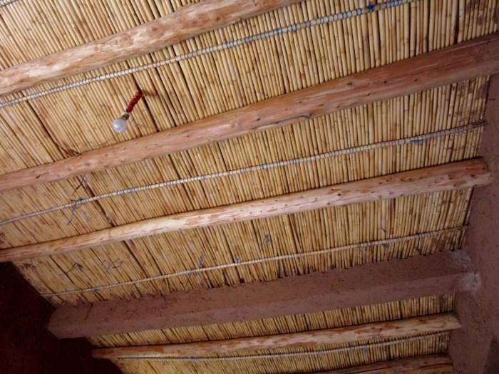 roof of berber home high atlas