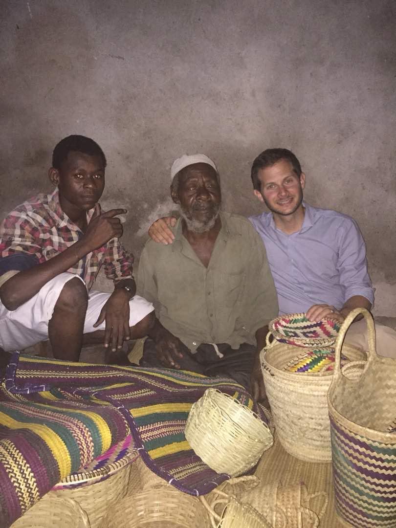 Blind weaver in Zanzibar