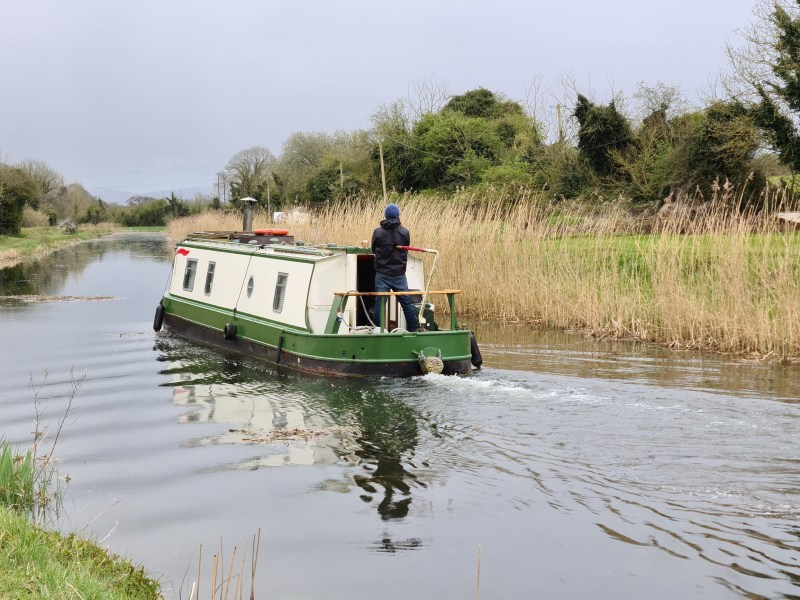 Barge at Digby Bridge over the Grand Canal in Co Kildare