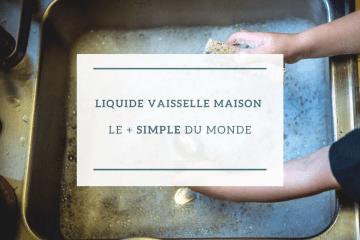 Liquide vaisselle maison le + simple du monde