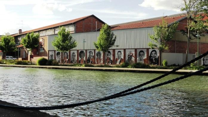 Projet Inside Out de JR le long du canal de l'Ourcq - Pantin