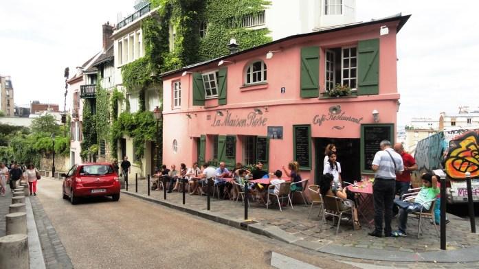 Montmartre - La Maison Rose, rue de l'Abreuvoir