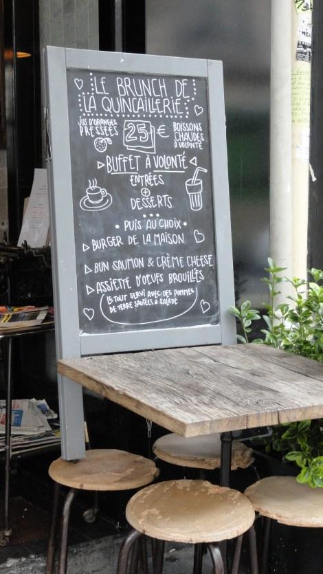 La Quicaillerie, Paris 10e - Brunch - Carte