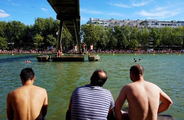 Baignade au canal de l'Ourcq