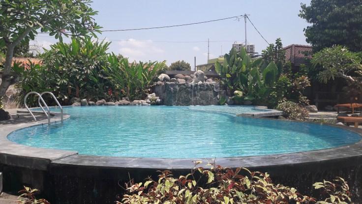 Petite piscine sympa pour 20€ la nuit !
