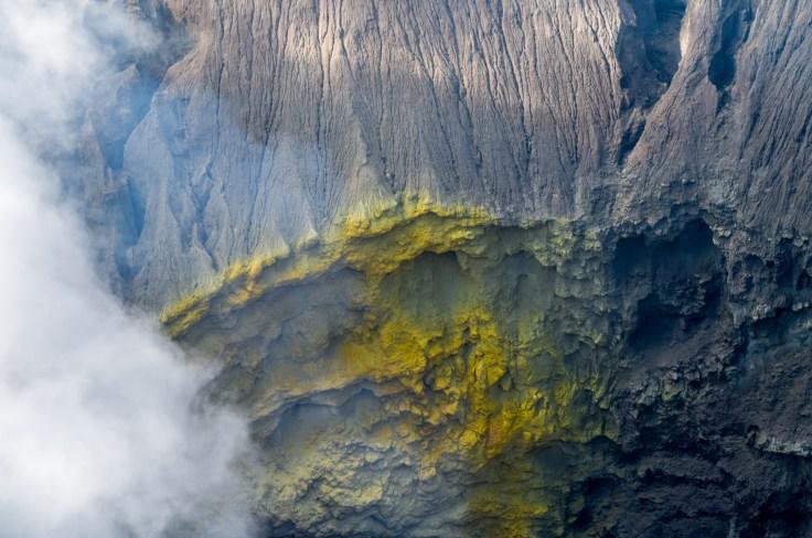 Bromo - détails du cratère