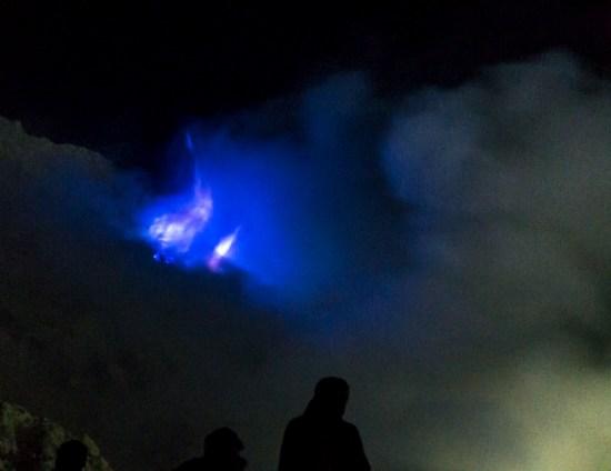 Kawah Ijen - flammes bleues