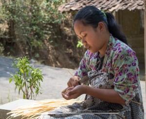 Découpe du bambou