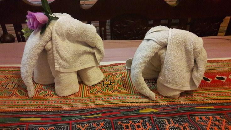 Elephants serviettes