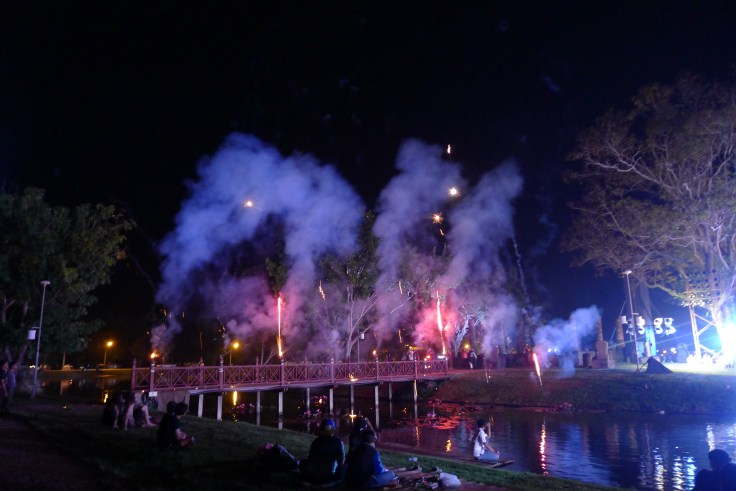 Loy Krathong Sukhothai fireworks