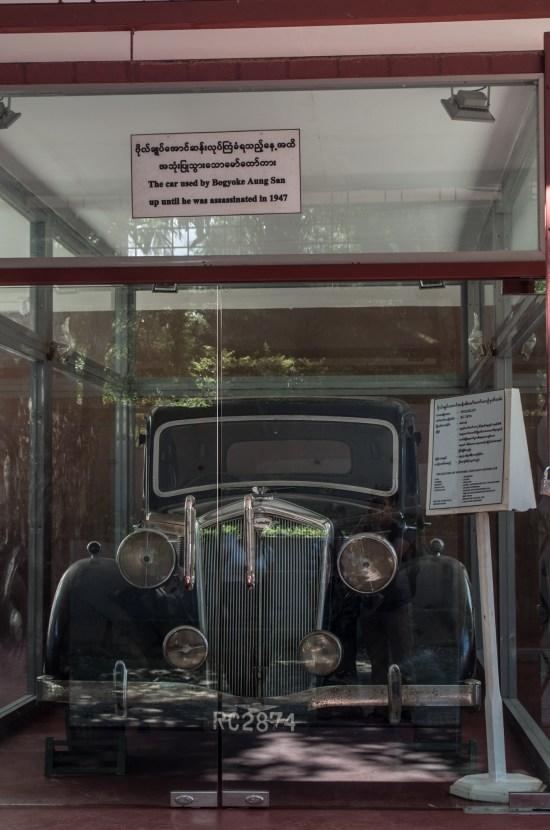Myanmar - Yangon - Aung san car