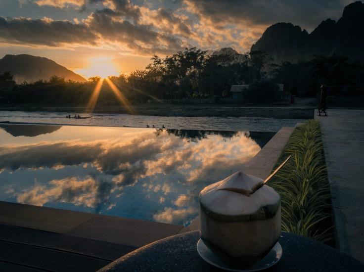 Laos - Vang Vieng - Inthhira VV Hotel - coconut