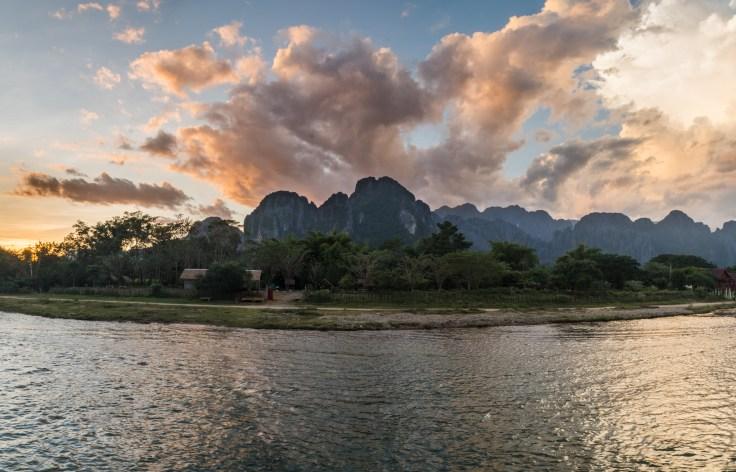 Laos - Vang Vieng - Sunset