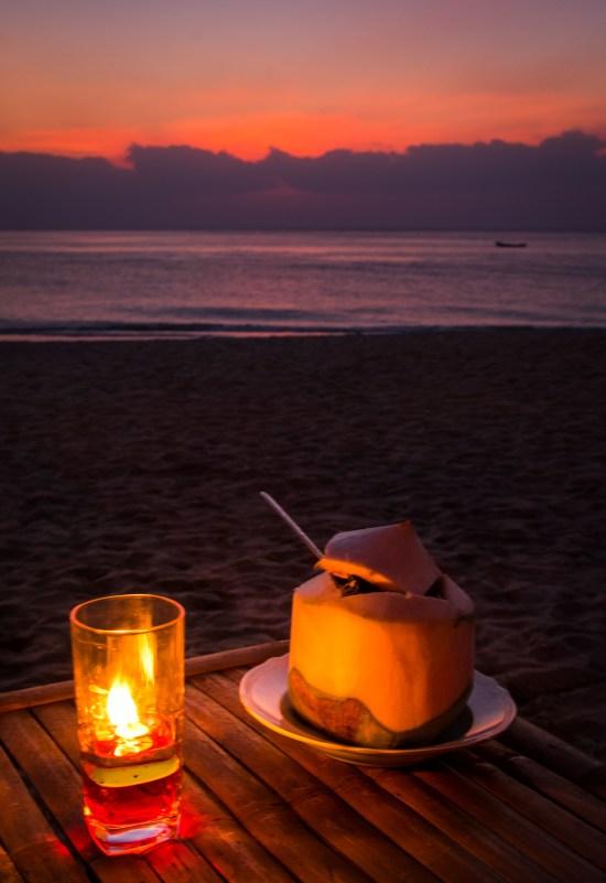 Thailande - Koh Lanta - Coucher soleil - noix de coco