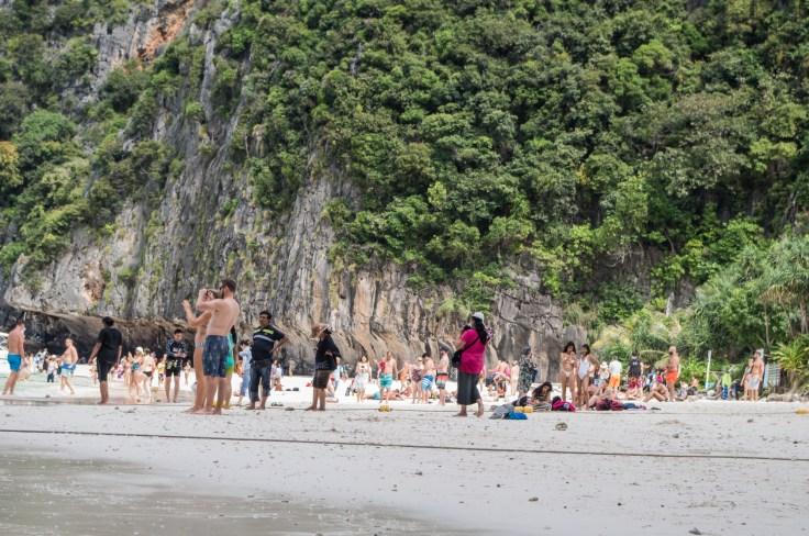 Thailande - Koh Phi Phi Ley - aya bay - foule