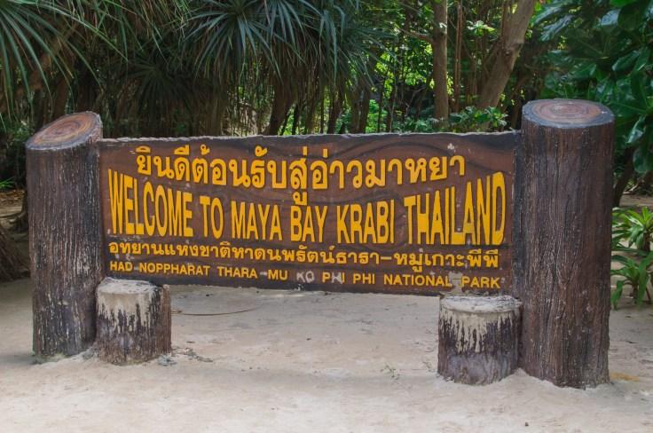Thailande - Koh Phi Phi Ley - Maya Bay - panneau