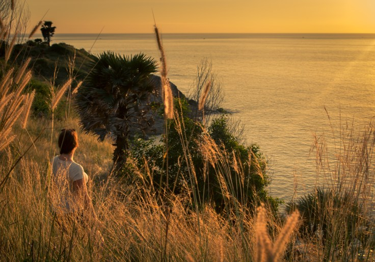 Thailande - Phuket - Premthop cape - Coucher de soleil - Ariane