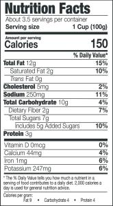 Maple Bourbon Chopped Salad Nutrition Info
