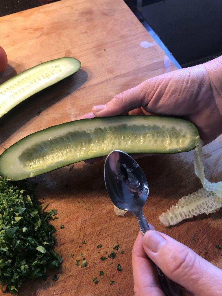 Scooping cucumber 2