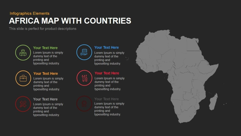africa map with countries powerpoint and keynote template