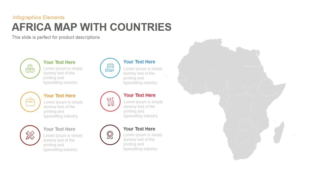 africa map with countries template for powerpoint keynote